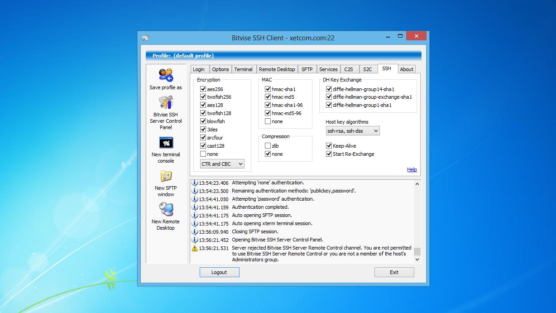 Скачать Bitvise SSH Client бесплатно на русском языке