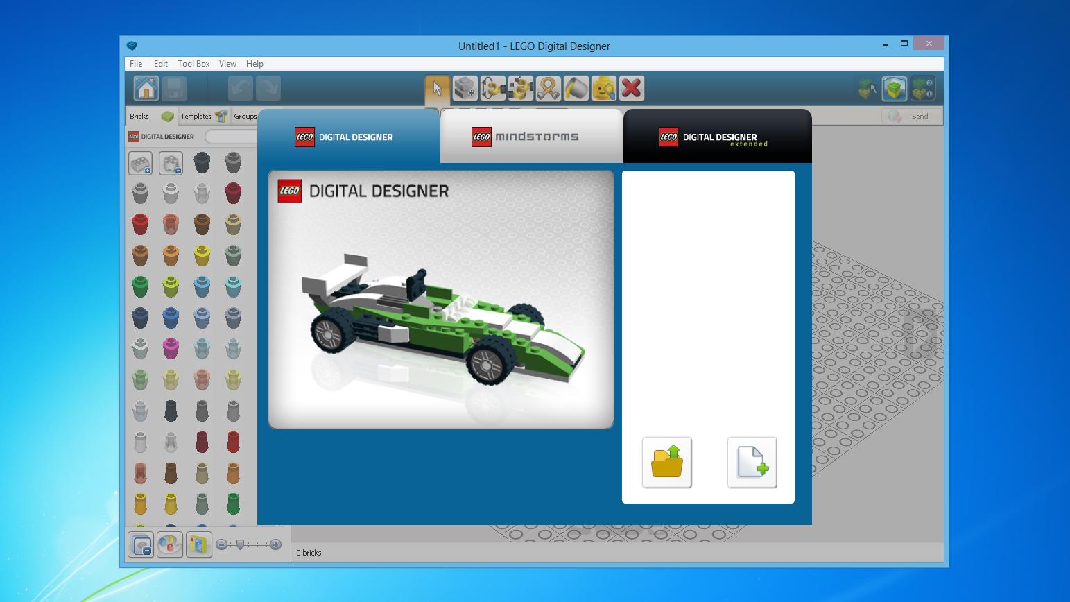 Програмку lego digital designer