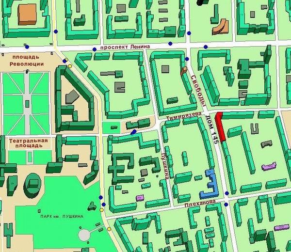 2ГИС подробный просмотр участка на карте