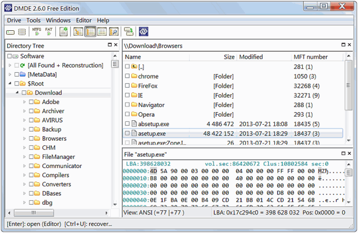 DMDE (DM Disk Editor)