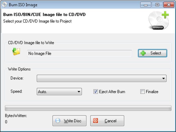 Free Create–Burn ISO Image