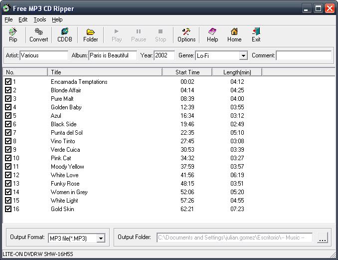 Free MP3 CD Ripper