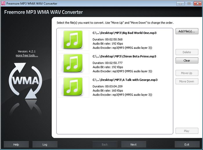 Freemore MP3 WMA WAV Converter 2