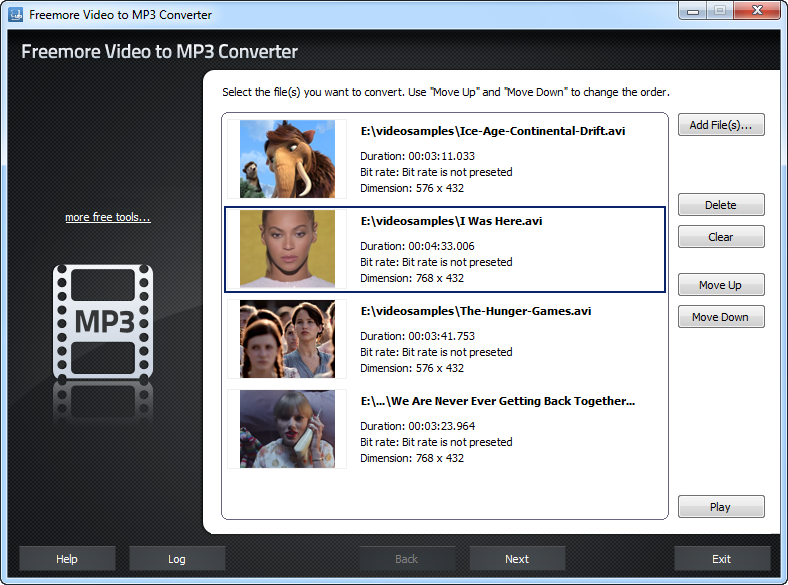 Freemore Video to MP3 Converter 2