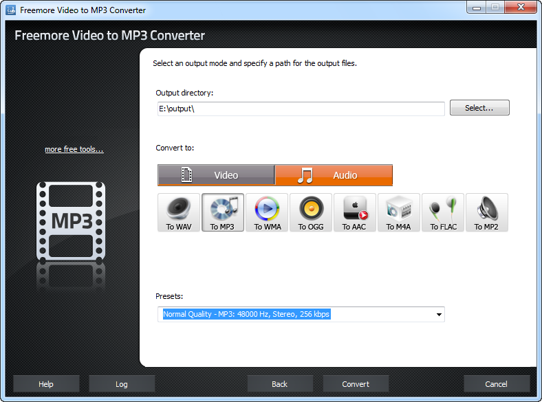 Freemore Video to MP3 Converter