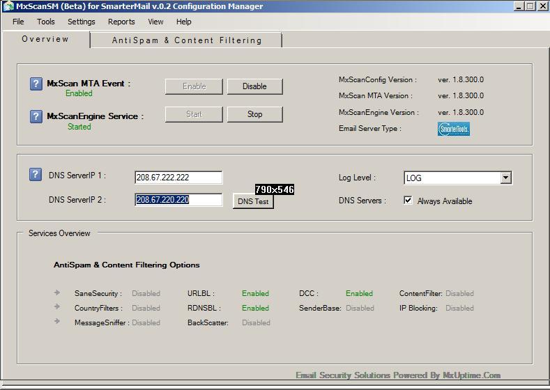 SM AntiSpam Server 1