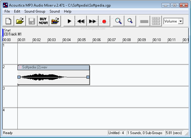 Acostica MP3 Audio Mixer