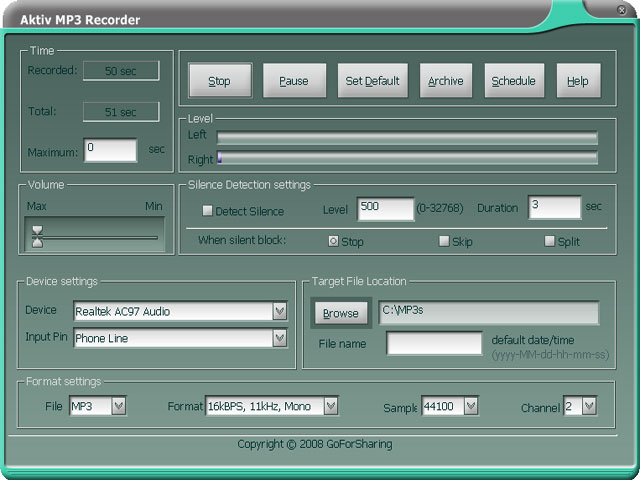 Aktiv MP3 Recorder 2
