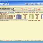 DBF data import for ORACLE