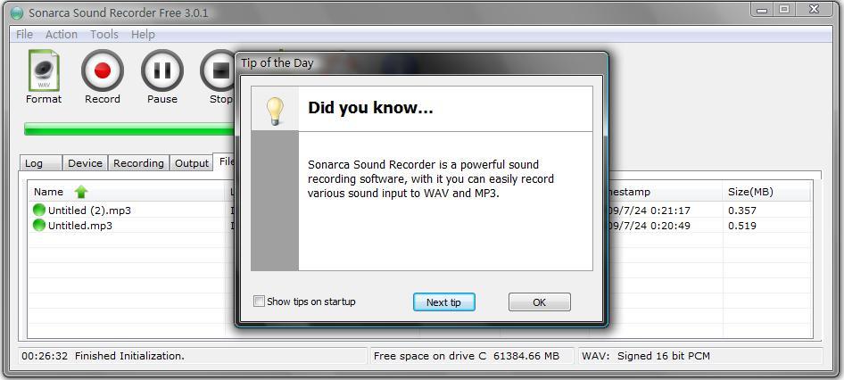 Free Sound Recorder 2