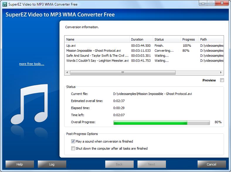 SuperEZ YouTube to MP3 WMA Converter Free 2