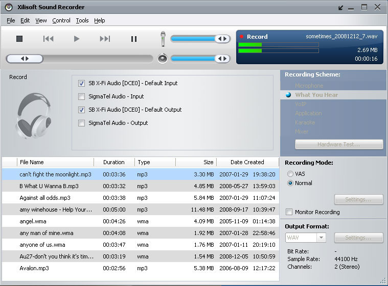 Xilisoft sound recorder v1 0 49 build 1225 new